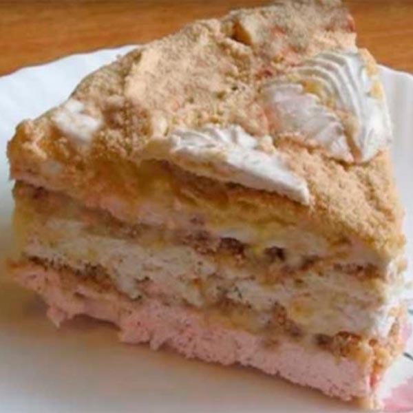 Торт из зефира с печеньем